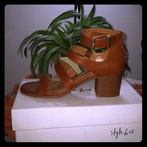 Style & Co. Womens Naomii Open Toe Casual Strappy